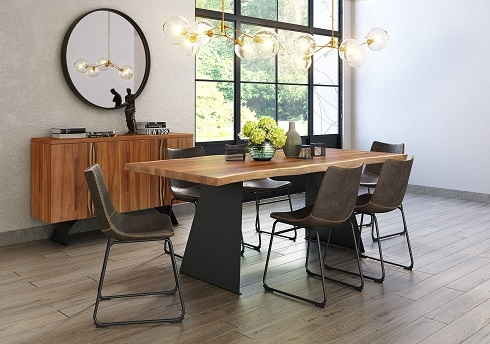 Milan Black Wood Dining